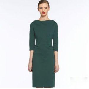 DVF New Maidey Dress, Bottle Green, 2, EUC